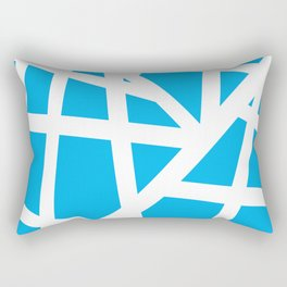 Abstract Interstate  Roadways White & Aqua Blue Color Rectangular Pillow