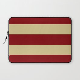 Tan and Red Stripes Laptop Sleeve