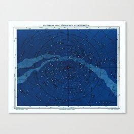 Antique Constellation Chart Canvas Print