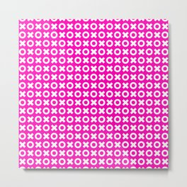XOXO ((hot pink)) Metal Print