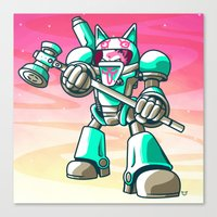 starcraft Canvas Prints featuring Mech.Cat HAMMER by FoxBoy