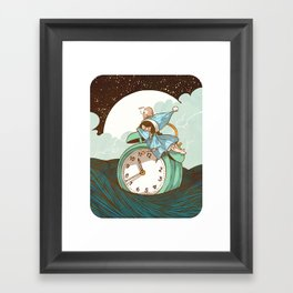 Sleep Fairy Framed Art Print