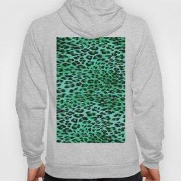 AquaMarine Tones Leopard Skin Camouflage Pattern Hoody