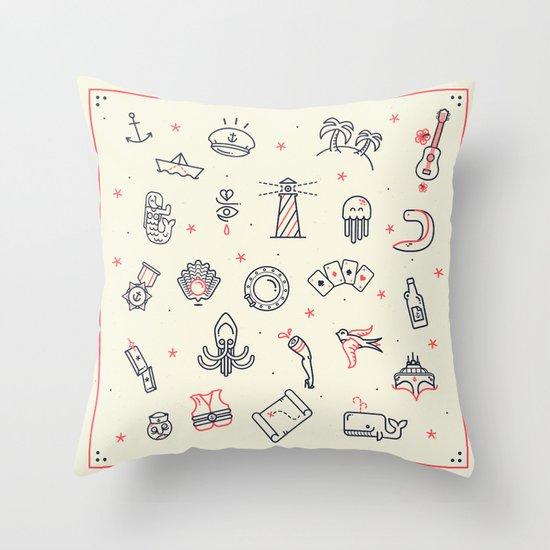 Ahoy! Icons Throw Pillow