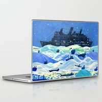 ships Laptop & iPad Skins featuring Ships by Victoria Antolini