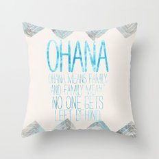 OHANA Throw Pillow