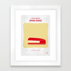 No255 My OFFICE SPACE minimal movie poster Framed Art Print