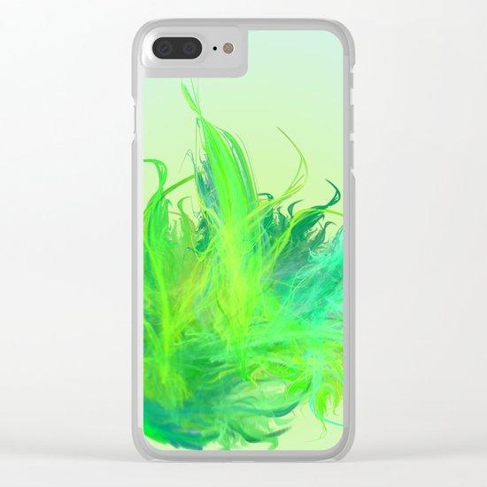 green work - we love  vegan Clear iPhone Case