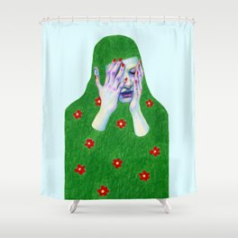 Sad Spring Shower Curtain