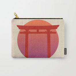 Red Japanese Torri Gate - Sunset - Zen - Japanese Minimal - Religious Gate - Calm  Carry-All Pouch