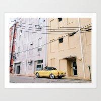 Volkswagen Karmann Ghia Art Print