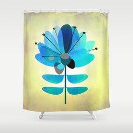 Die Blaue Blume Shower Curtain