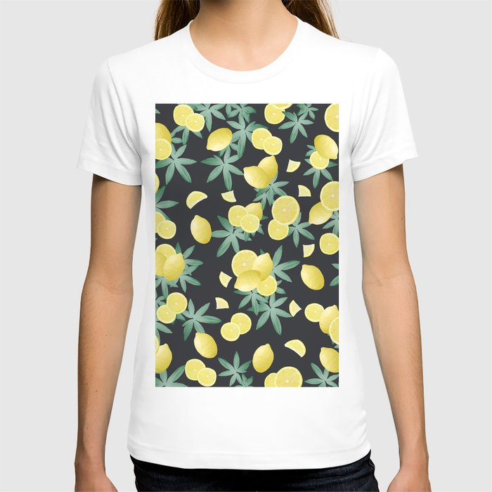 Lemon Twist Vibes #5 #tropical #fruit #decor #art #society6 T-shirt