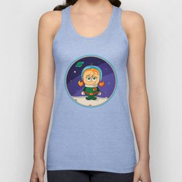 Zoe Conquers The Moon Unisex Tank Top
