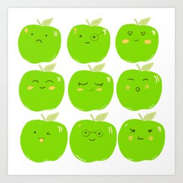 Pack of Granny Smith Apples Art Print