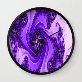 Gearwheel Fractals (purple) Wall Clock