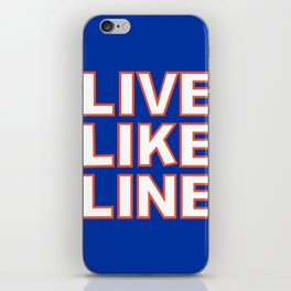 LIVE LIKE LINE Volleyball iPhone Skin