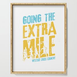 Awesome Cross Country Runners Running Extra Mile Serving Tray
