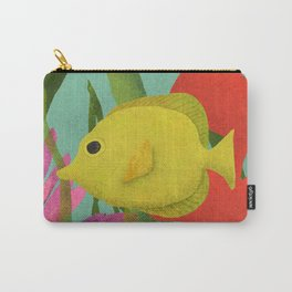 Yellow Fish In The Ocean Carry-All Pouch
