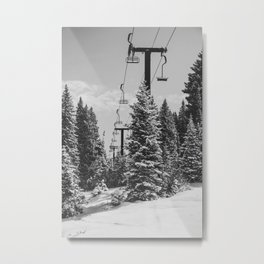Chairlift to the Top Metal Print