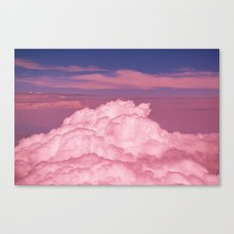 Pink Cotton Candy Clouds Canvas Print