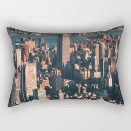 Birds eye view of Empire State Building Rectangular Pillow