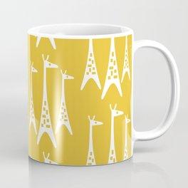 Mid Century Modern Giraffe Pattern 221 Mustard Yellow Coffee Mug