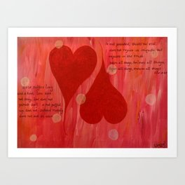 It's all about LOVE Art Print