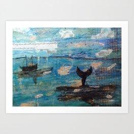 Risky Waters Art Print