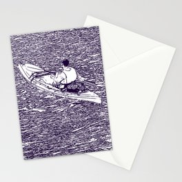 Paddling in a dark river Stationery Cards
