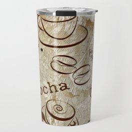 Grunge Coffee Background - 04 Travel Mug