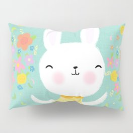 Dancing Garden Bunny Pillow Sham