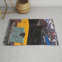 Barges on the River Hull, Hull, Yorkshire. England. Landscape Rug