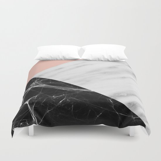 Marble Collage Duvet Cover By Cafelab Society6