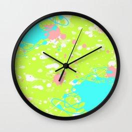 Tropical Ink Splatter Wall Clock