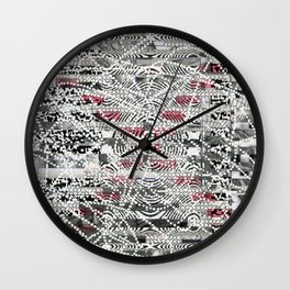 A Virtual Two By Four (P/D3 Glitch Collage Studies) Wall Clock