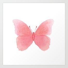 Watermelon pink butterfly Art Print