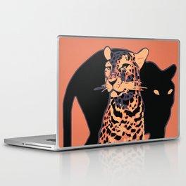 Retro vintage Munich Zoo big cats Laptop & iPad Skin