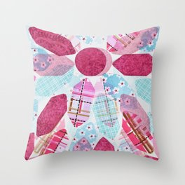 Patchwork-Collage Love Throw Pillow