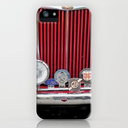 Red MG TD Sports Car iPhone Case