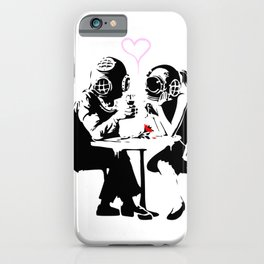 Banksy Diving in Love, Deep Divers Loving Artwork, for Wall Art, Prints, Posters, Tshirts, Men, Wome iPhone Case