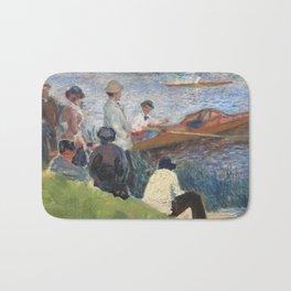 Renoir meets Seurat at the river Bath Mat