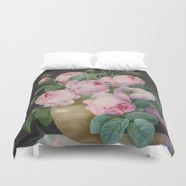 Pierre Joseph Redouté - Pink Roses in a Vase Duvet Cover