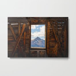 MT WILSON FRAMED - TELLURIDE COLORADO MOUNTAIN - LANDSCAPE NATURE PHOTOGRAPHY Metal Print