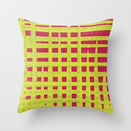 Red and yellow color patterns always stands out to me Throw Pillow