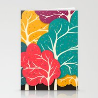 jazzberry Stationery Cards featuring Happy Forest by Danny Ivan