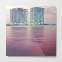 Hotels on the water Metal Print