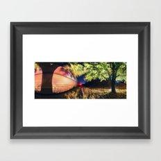 Railroad of the Elm Framed Art Print