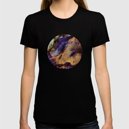 Purple and Gold Abstract T-shirt