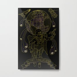 My Spirit Animal is an Astronaut Metal Print